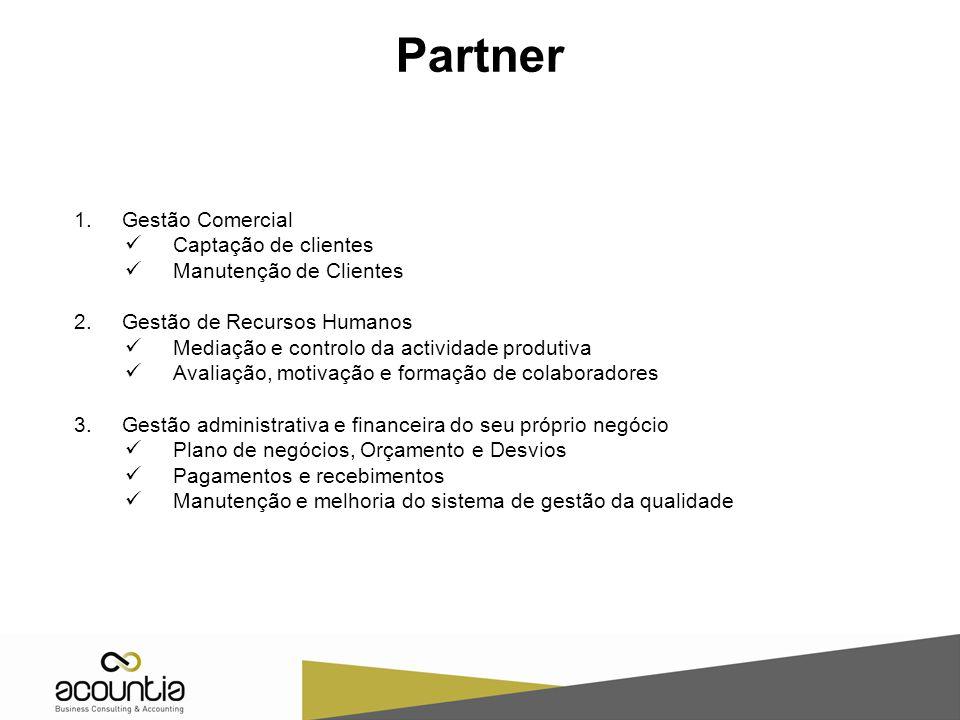 Partner Gestão Comercial Captação de clientes Manutenção de Clientes