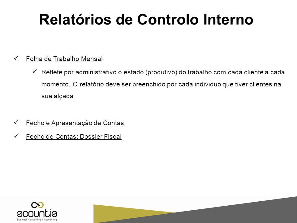 Relatórios de Controlo Interno