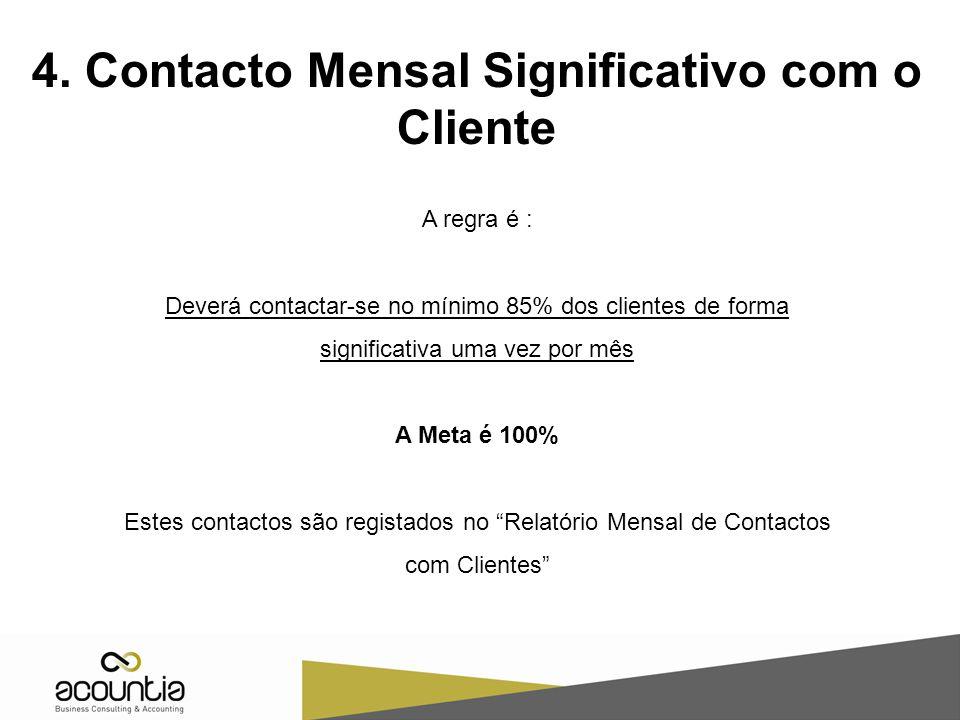 4. Contacto Mensal Significativo com o Cliente