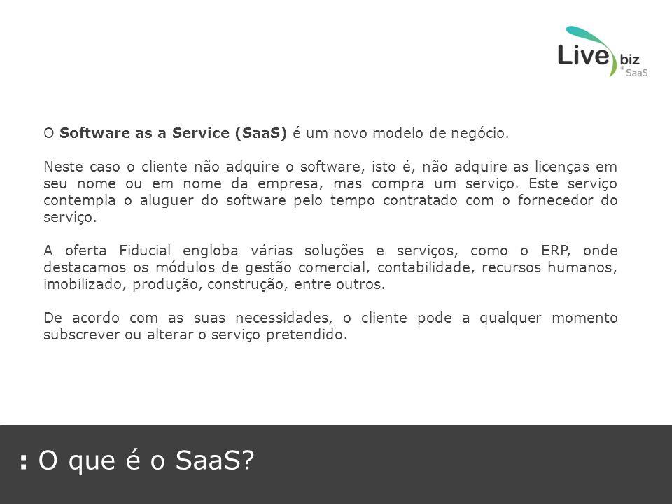 O Software as a Service (SaaS) é um novo modelo de negócio.