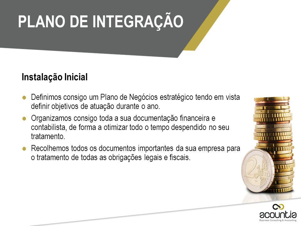 PLANO DE INTEGRAÇÃO Instalação Inicial