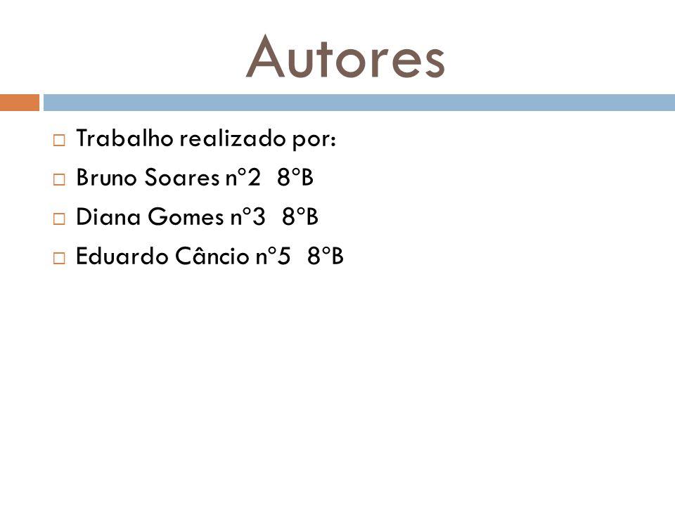 Autores Trabalho realizado por: Bruno Soares nº2 8ºB