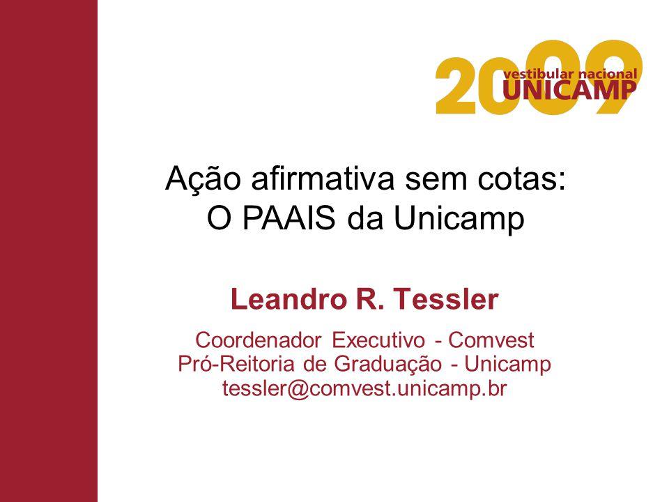 Ação afirmativa sem cotas: O PAAIS da Unicamp