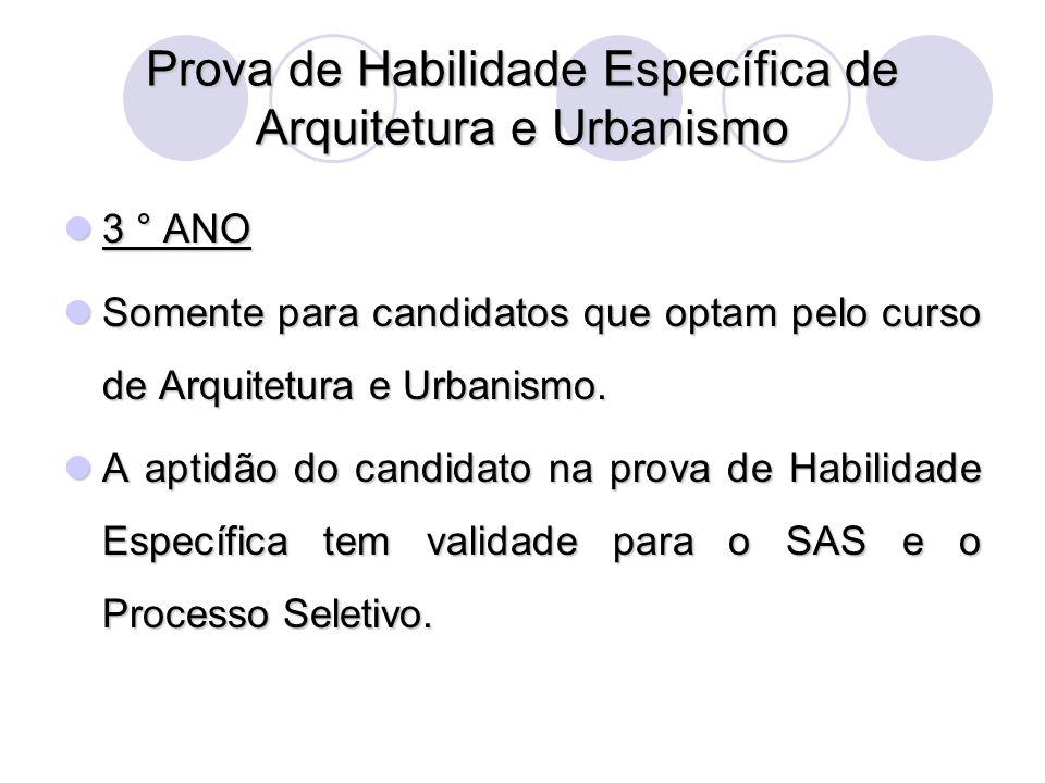 Prova de Habilidade Específica de Arquitetura e Urbanismo