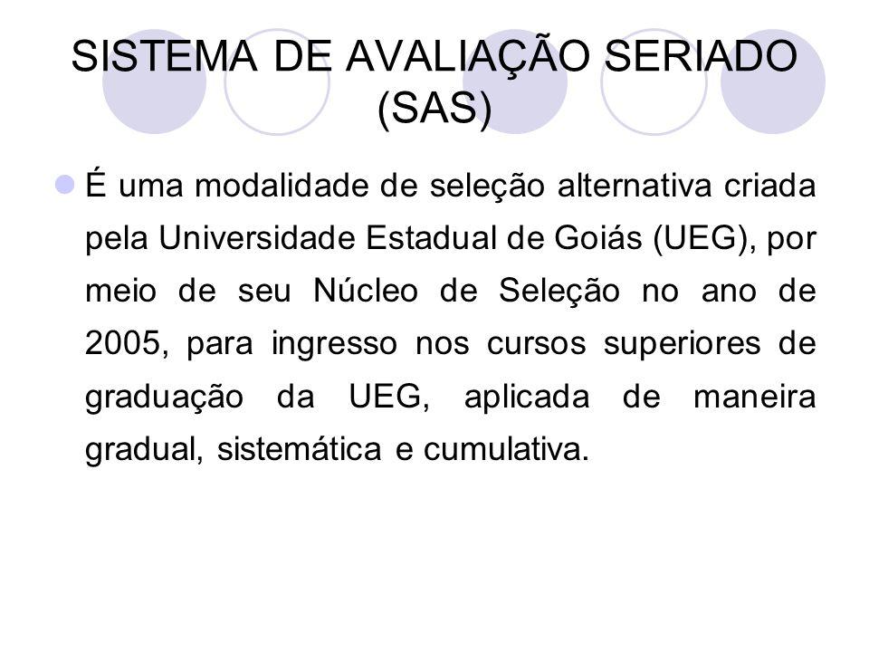 SISTEMA DE AVALIAÇÃO SERIADO (SAS)