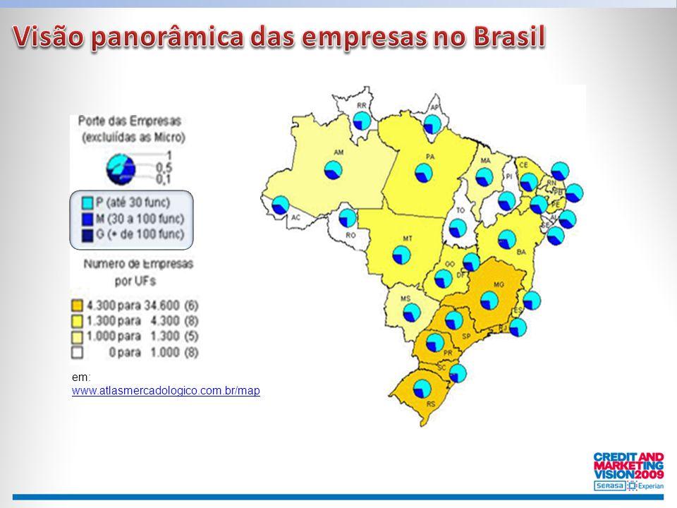 Visão panorâmica das empresas no Brasil