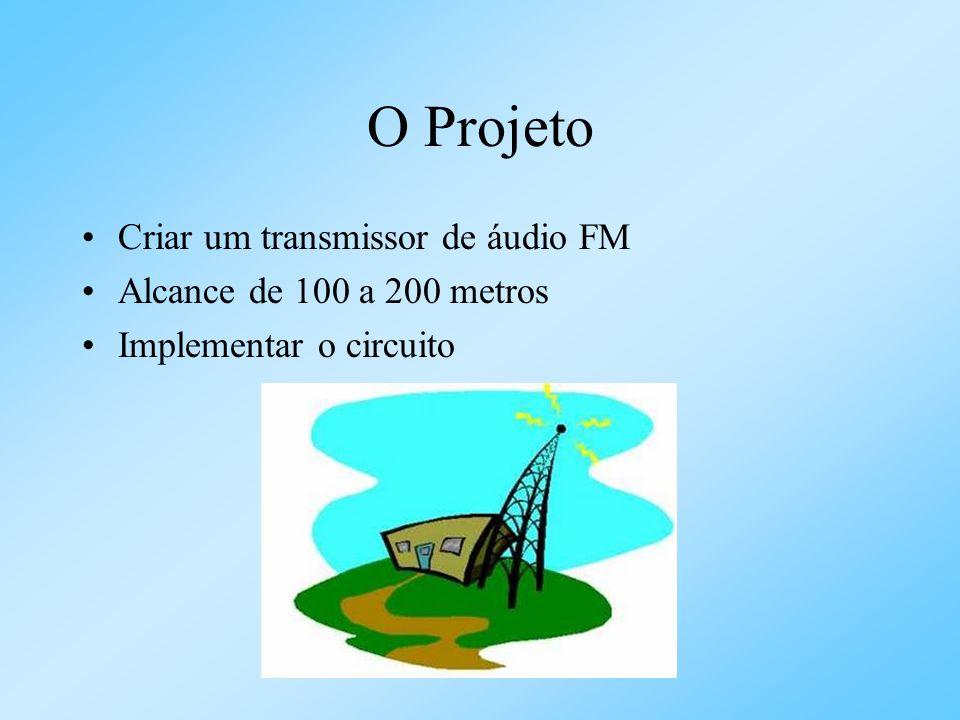 O Projeto Criar um transmissor de áudio FM Alcance de 100 a 200 metros