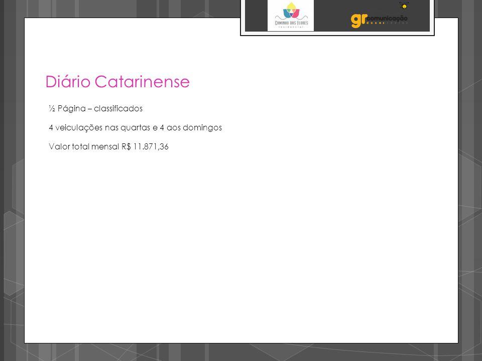 Diário Catarinense ½ Página – classificados