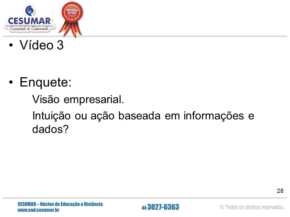 Vídeo 3 Enquete: Visão empresarial.