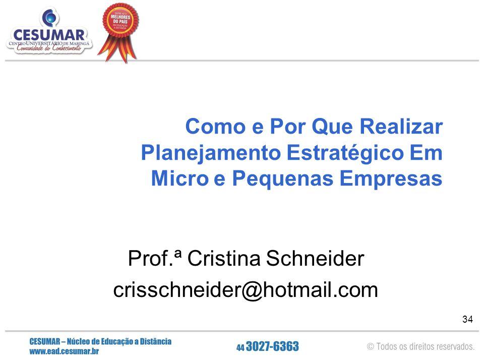 Prof.ª Cristina Schneider crisschneider@hotmail.com