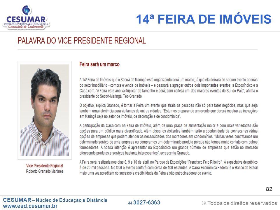 14ª FEIRA DE IMÓVEIS