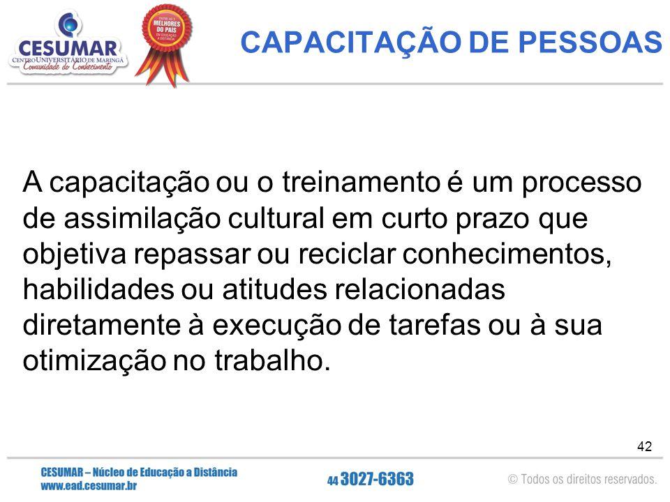 CAPACITAÇÃO DE PESSOAS