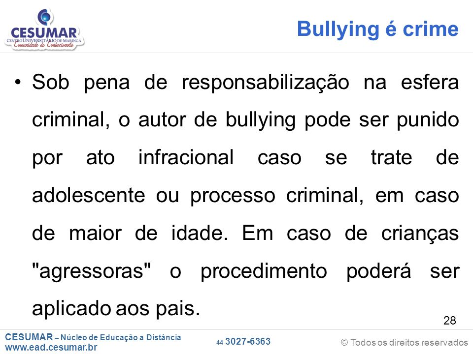Bullying é crime