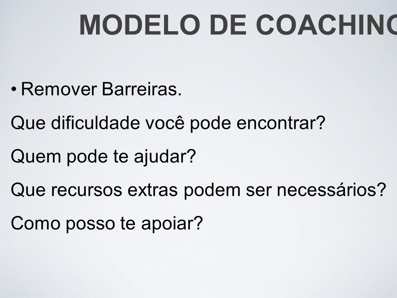 MODELO DE COACHING Remover Barreiras.