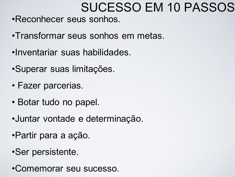SUCESSO EM 10 PASSOS Reconhecer seus sonhos.