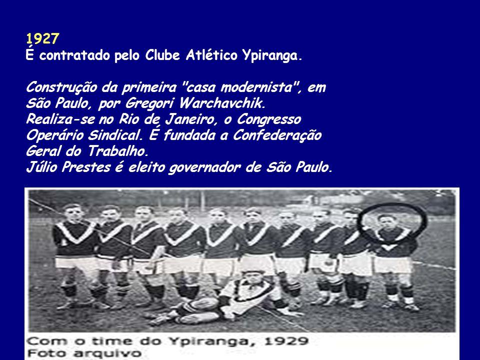 1927 É contratado pelo Clube Atlético Ypiranga