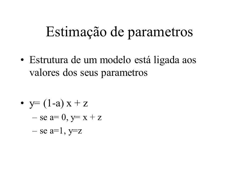 Estimação de parametros