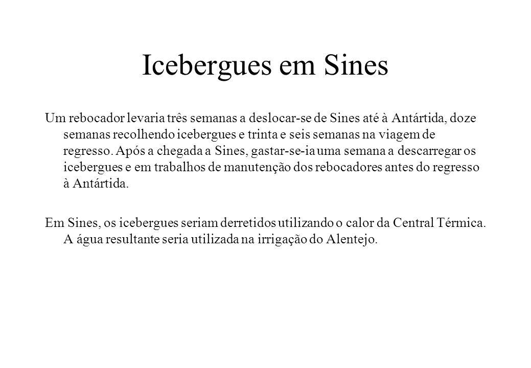 Icebergues em Sines