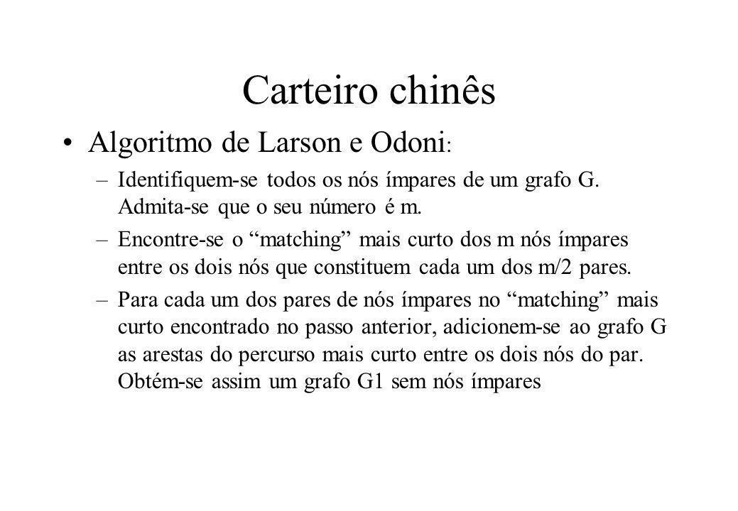 Carteiro chinês Algoritmo de Larson e Odoni: