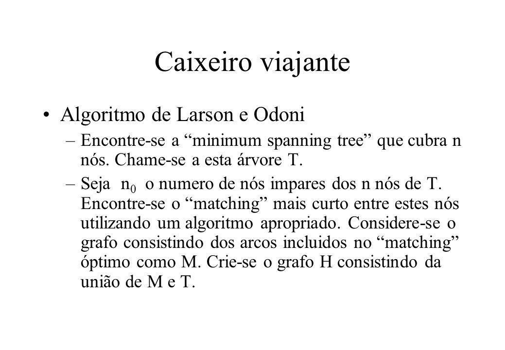 Caixeiro viajante Algoritmo de Larson e Odoni
