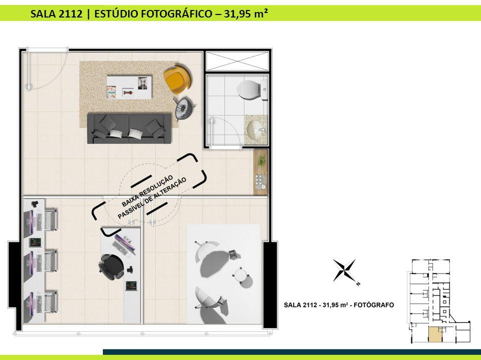 SALA 2112 | ESTÚDIO FOTOGRÁFICO – 31,95 m²