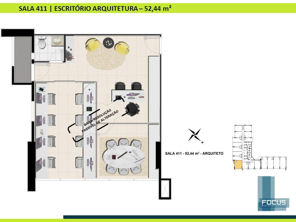 SALA 411 | ESCRITÓRIO ARQUITETURA – 52,44 m²