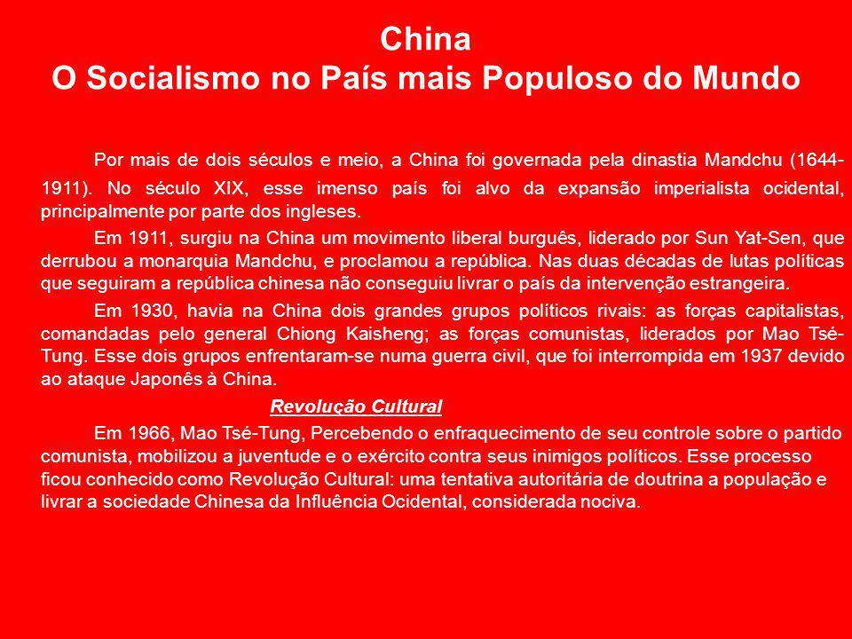 China O Socialismo no País mais Populoso do Mundo