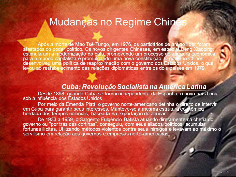 Mudanças no Regime Chinês