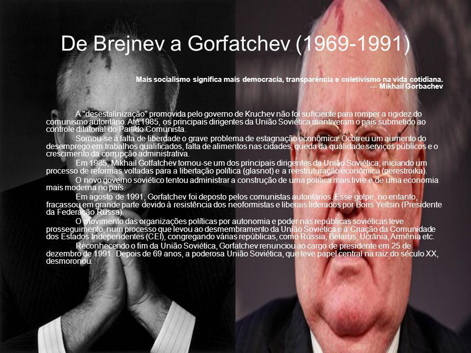De Brejnev a Gorfatchev (1969-1991)