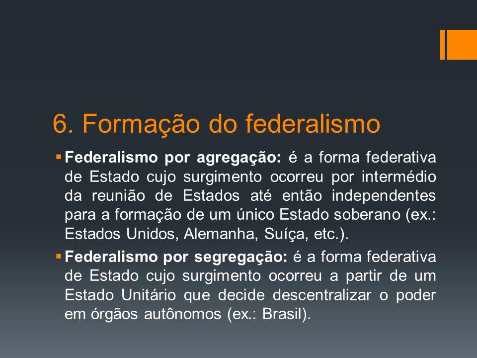 6. Formação do federalismo