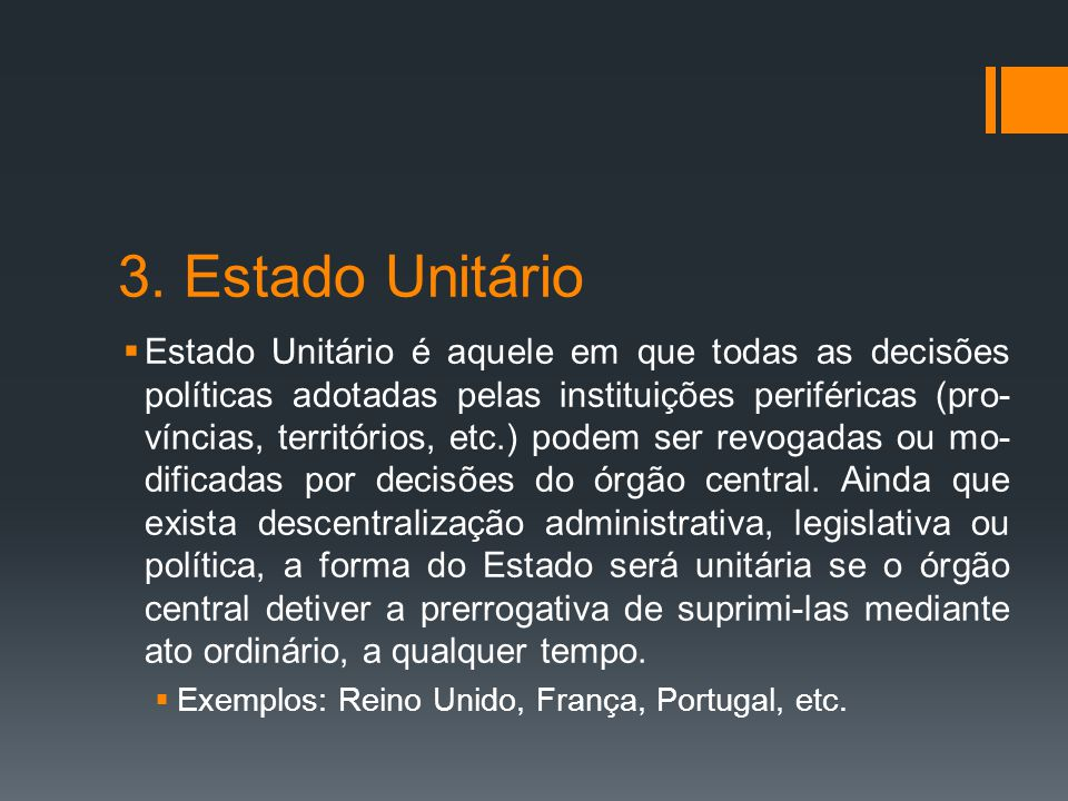 3. Estado Unitário
