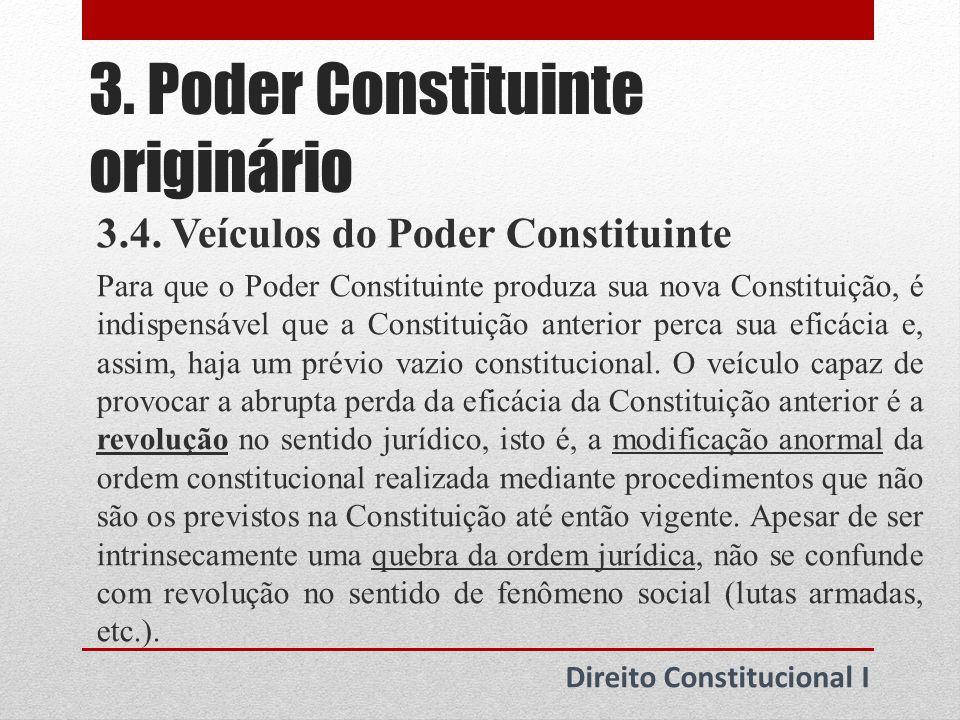 3. Poder Constituinte originário