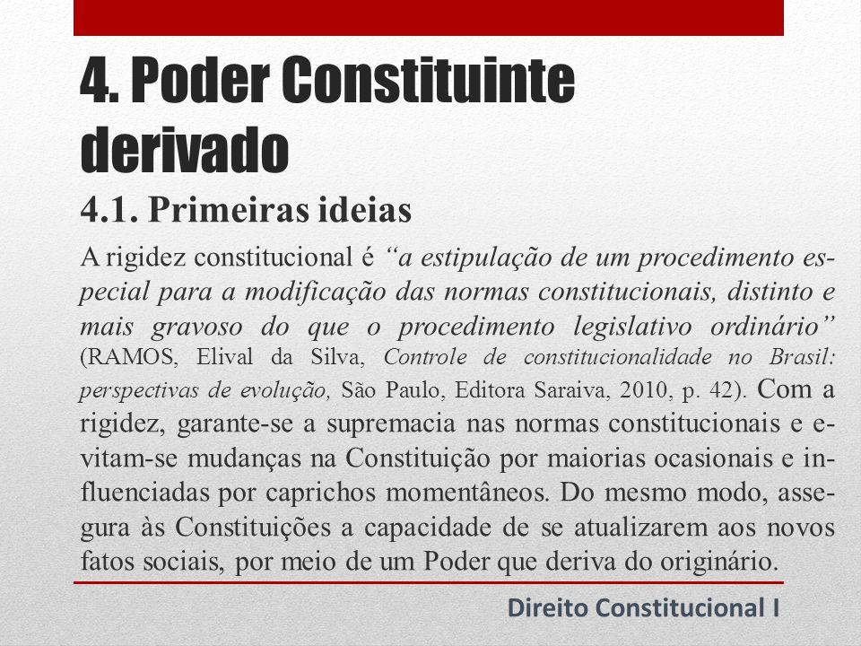 4. Poder Constituinte derivado