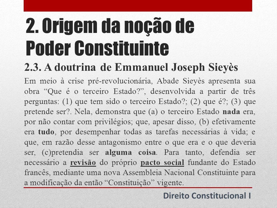 2. Origem da noção de Poder Constituinte
