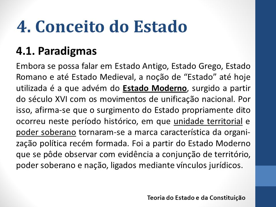 4. Conceito do Estado 4.1. Paradigmas