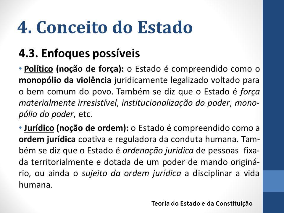 4. Conceito do Estado 4.3. Enfoques possíveis