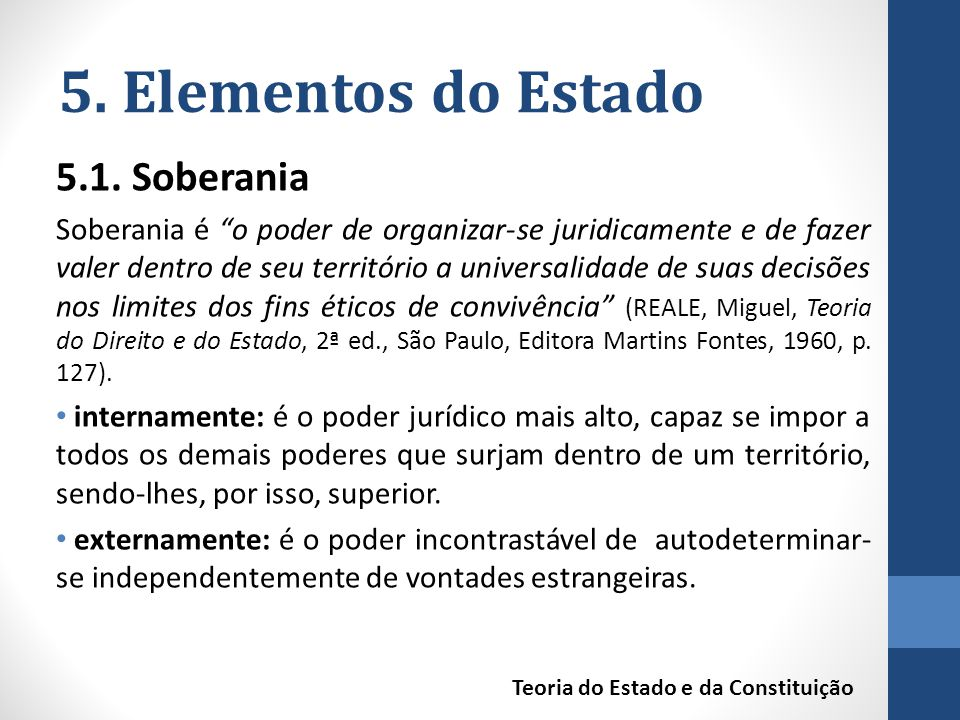 5. Elementos do Estado 5.1. Soberania