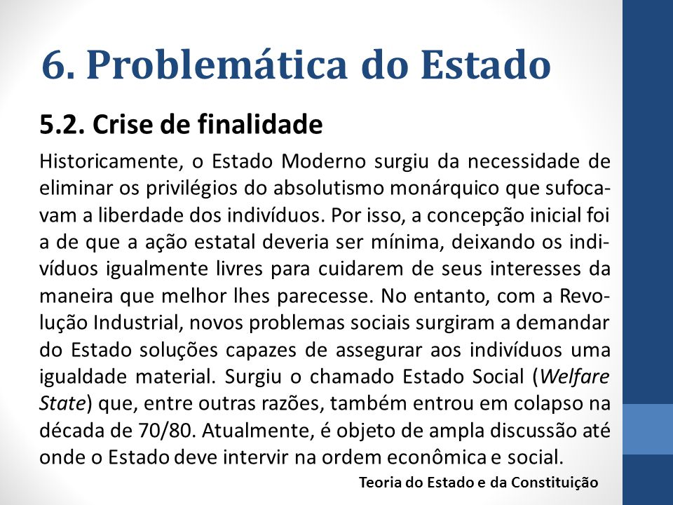 6. Problemática do Estado