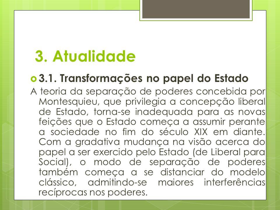 3. Atualidade 3.1. Transformações no papel do Estado