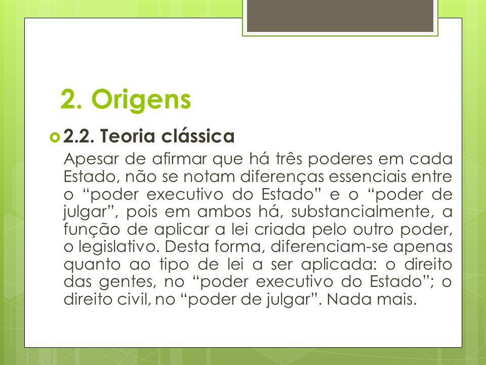 2. Origens 2.2. Teoria clássica