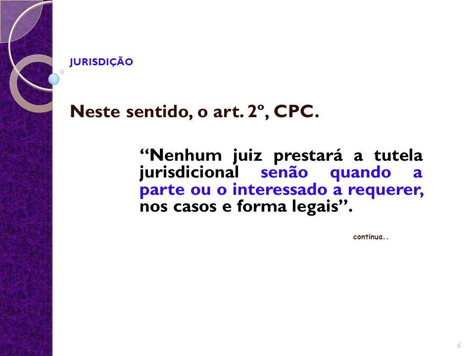 Neste sentido, o art. 2º, CPC.