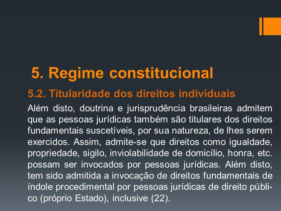 5. Regime constitucional
