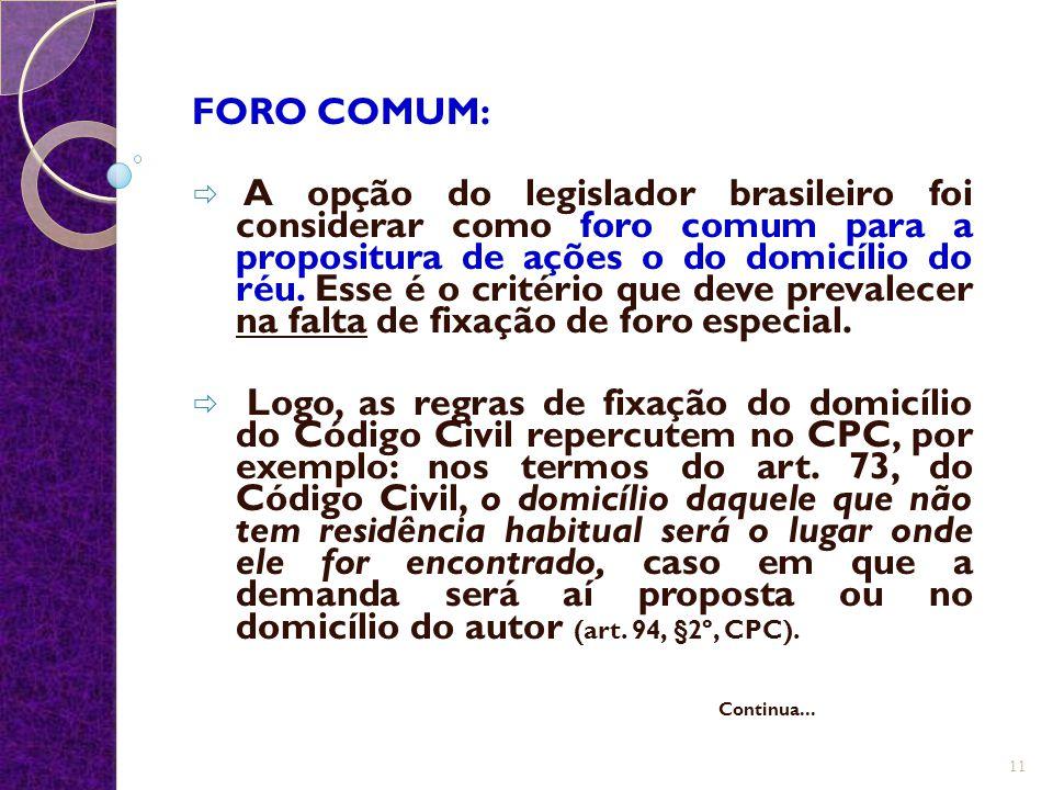 FORO COMUM: