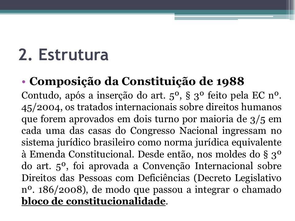 2. Estrutura Composição da Constituição de 1988