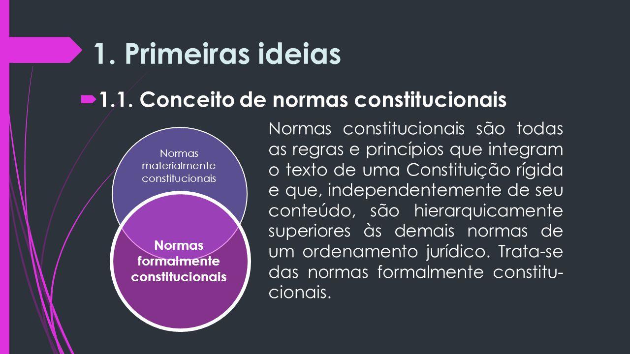 Normas formalmente constitucionais