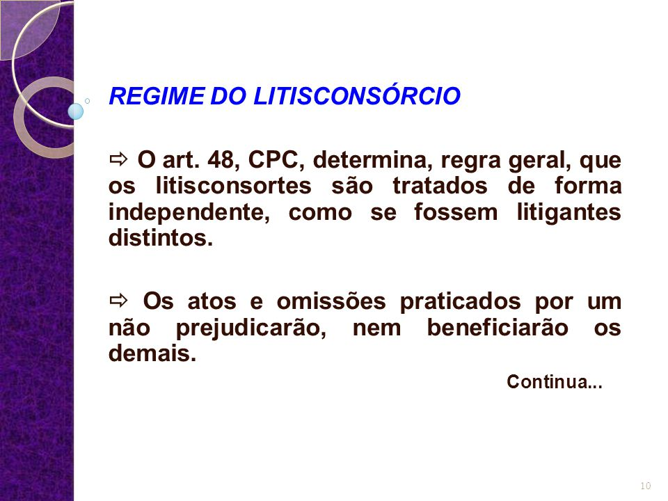 REGIME DO LITISCONSÓRCIO