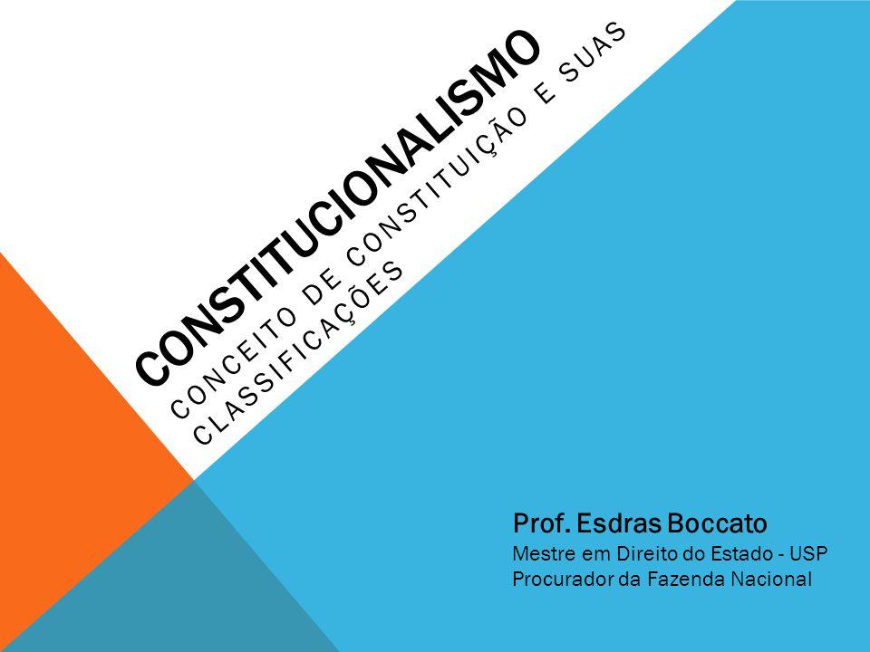 CONCEITO DE CONSTITUIÇÃO E SUAS CLASSIFICAÇÕES
