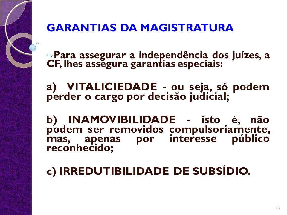 GARANTIAS DA MAGISTRATURA