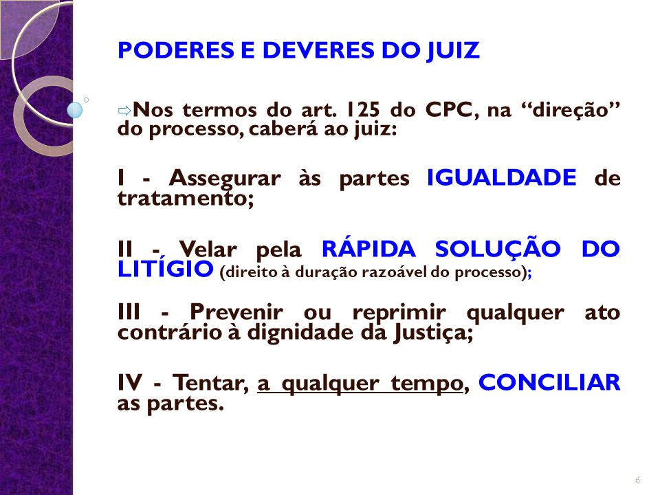 PODERES E DEVERES DO JUIZ