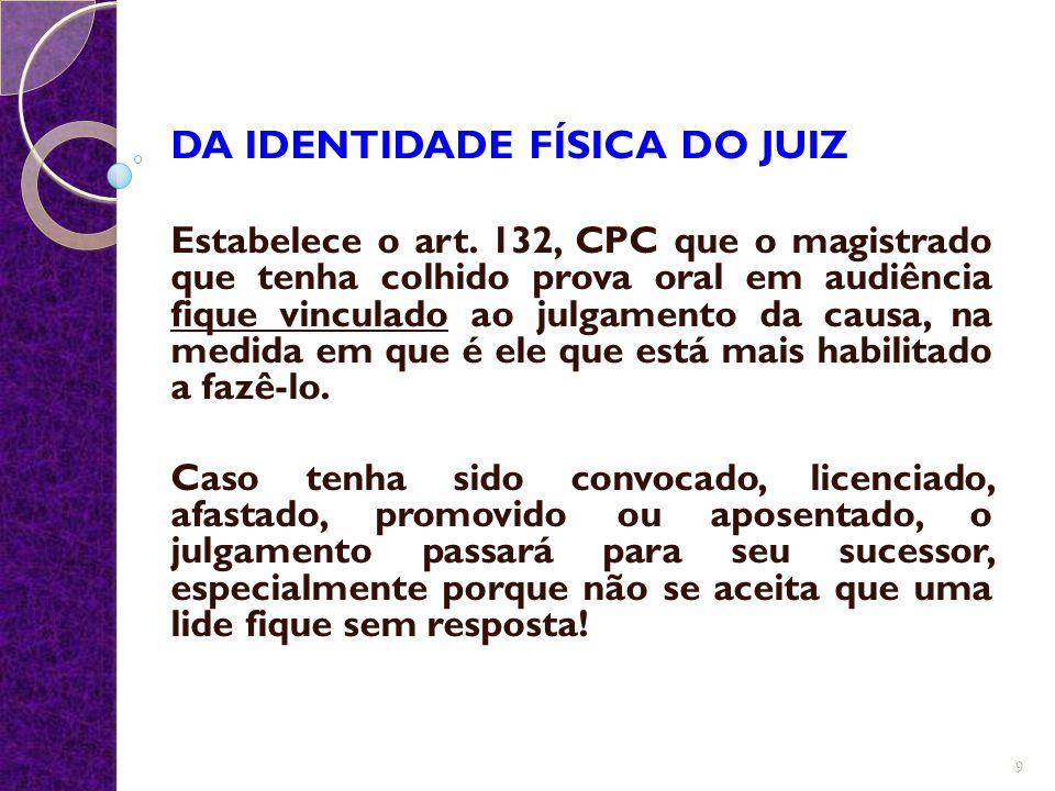 DA IDENTIDADE FÍSICA DO JUIZ